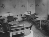Writing and Reading Room Aboard Hindenburg Transatlantic Airship of the Zeppelin Transport Company Premium Photographic Print