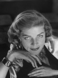 Portrait of Actress Lauren Bacall, Hollywood, Ca Premium Photographic Print