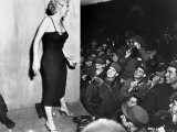 "Film Star Marilyn Monroe Appearing with USO Camp Show, ""Anything Goes"" Premium Photographic Print"