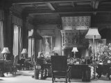 End of Great Hall at Cliveden, Estate Owned by Lord William Waldorf Astor and Wife Lady Nancy Astor Premium Photographic Print by Hans Wild