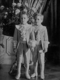 Thurn Und Taxis Princes Louis Philippe and Max Emmanuel Wearing Suits from La Grande Maison Premium Photographic Print by Zacharias