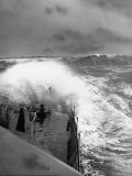 Ex US Destroyer Reaching Open Sea Where Atlantic Took on Its Normal Winter Grayness Premium Photographic Print by Hans Wild