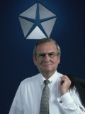 Portrait of Chrysler CEO Lee Iacocca Premium Photographic Print by Ted Thai