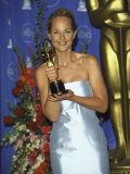 Helen Hunt with Oscar at Academy Awards Premium Photographic Print by Mirek Towski