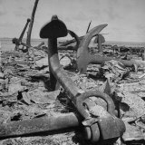 Anchor of Debris Littering Beaches, a Result of the Fighting to Retake the Marshall Islands Photographic Print by George Strock