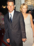 "Married Actors Dennis Quaid and Meg Ryan at Film Premiere of ""The Parent Trap."" Premium Photographic Print by Mirek Towski"