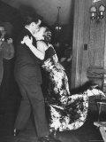 Couple Engaged in Dance at Dartmouth College's Sigma Alpha Epsilon's Fraternity Winter Carnival Photographic Print by Peter Stackpole
