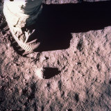 Foot of Astronaut Buzz Aldrin, Who Becomes the 2nd Man to Walk on Surface of the Moon Photographic Print