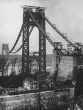 Main Towers and Cables of the George Washington Bridge under Construction Photographic Print