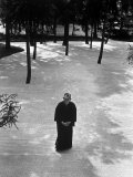 Japan's Greatest Industrialist/Philosopher Konosuke Matsushita, Walking in Philosophical Institute Premium Photographic Print by Bill Ray