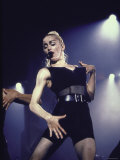 Pop Star Madonna Wearing Skimpy Outfit While Performing Onstage Premium Photographic Print