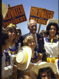 Arizona Sen. Barry Goldwater Campaignigg for Republican Presidential Nomination Premium Photographic Print by Art Rickerby