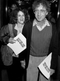 "Married Actors Gilda Radner and Gene Wilder at Film Premiere of ""Hannah and Her Sisters."" Premium Photographic Print by Kevin Winter"