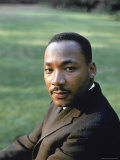 Rev. Martin Luther King, at Atlanta University for SCLC Sponsored Student Conf Premium Photographic Print by Howard Sochurek