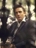 Country/Western Singer Johnny Cash Premium-Fotodruck von Michael Rougier