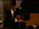Jazz Pianist Marcus Roberts Seated at Piano in Henley Park Hotel Premium Photographic Print by Ted Thai