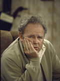 Carroll O'Connor Posing as Archie Bunker in TV Series All in the Family Premium Photographic Print by Michael Rougier