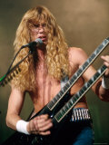 Dave Mustaine, Lead Singer of Megadeth, Performing Premium Photographic Print by Kevin Winter