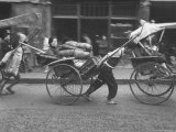 Rickshaws, Favorite Method of Intercity Transportation to Get to Bus Station and Steamer Office Reproduction photographique sur papier de qualité par Jack Wilkes