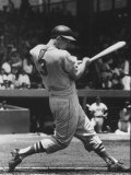 Orioles Ron Hansen Batting During Game with Senators Premium Photographic Print by Hank Walker
