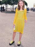 Scarlett Johansson Wearing Yellow Dress at Independent Spirit Awards Premium Photographic Print by Mirek Towski