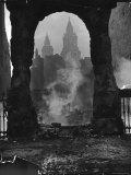 Spires of St. Paul's Cathedral After German Air Raid Bomb Attack on the City Premium Photographic Print by Hans Wild