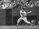 Orioles Gene Woodling Batting During Game with Senators Premium Photographic Print by Hank Walker