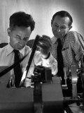 "Film Director Elia Kazan Editing ""Baby Doll"" Film Premium Photographic Print by Gordon Parks"