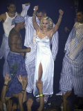 Madonna Dancing Onstage in Nightgown Premium Photographic Print