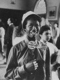 "Student Wearing Hat and Button on Shirt That Says: All I Want is Love on ""Old Clothes Day"" Photographic Print by Gordon Parks"