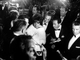Elizabeth Taylor, After Winning an Oscar, in Crowd with Husband, Eddie Fisher Premium Photographic Print by Grey Villet