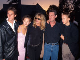 Goldie Hawn and Kurt Russell with Her Children, Oliver and Kate Hudson, and Their Son Wyatt Premium Photographic Print by Mirek Towski