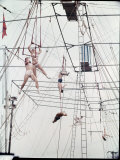 Maze of Ringling Bros. New Outdoor Rigging Supporting Trapezes and Ropes Photographic Print by Frank Scherschel