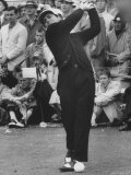 Masters Golf Tournament Winner Gary Player, Teeing Off Premium Photographic Print by George Silk