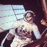 Skylab Astronaut Jack R. Lousman in Space Suit during EVA, Photographic Print