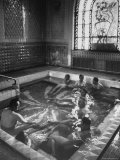 Medicinal Baths in Soviet Health Resort of Tskhaltubo GA, Springs Contain Radiation from Radon Premium Photographic Print by Stan Wayman