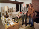 David Crosby Standing with Father Floyd in Father's House Premium Photographic Print by John Olson