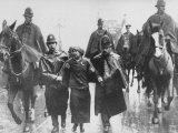 Miss Sylvia Pankhurst Taken Into Custody by Policemen During Women's Suffrage Protest Premium Photographic Print