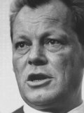 West Berlin Mayor Willy Brandt During Election Rally Premium Photographic Print by Stan Wayman