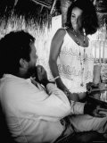 Richard Burton and Elizabeth Taylor on Location Premium Photographic Print by Gjon Mili