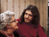 Joe Cocker with His Mother Marjorie Premium Photographic Print by John Olson