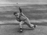 Subway Series: Brooklyn Dodger Pitcher Johnny Padres During the 7th Game of the World Series Premium Photographic Print by Ralph Morse