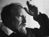 Author William Golding Relaxing with Cigarette, at Home, Ebble Thatch, Photographic Print