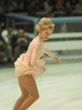 Figure Skater Janet Lynn Performing at 1968 Olympic Games Premium Photographic Print by Art Rickerby