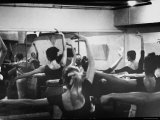 Ballet Master George Balanchine Working with Dancers at Morning Class During NYC Ballet Company Premium Photographic Print by Gjon Mili