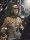 Astronaut John Glenn Strapped Into a Centrifuge During a Simulated Space Flight Premium Photographic Print by Ralph Morse