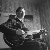 Considered Father of Country Western Music, AP Carter, Singing and Playing Guitar Premium Photographic Print by Eric Schaal