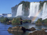 Waterfall Named Iguassu Falls, Formerly Known as Santa Maria Falls, on the Brazil Argentina Border Premium Photographic Print by Paul Schutzer