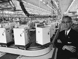 Founder of Matsushita Electronics, Corp, Konosuke Matsushita Impressão fotográfica premium por Bill Ray