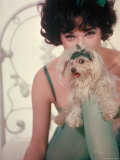 Shirley MacLaine as Irma Posing with Small Dog in Motion Picture Irma La Douce Premium Photographic Print by Gjon Mili